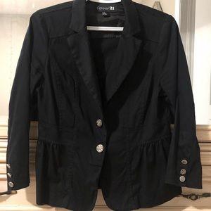 Forever 21 Black Blazer 3/4 sleeve
